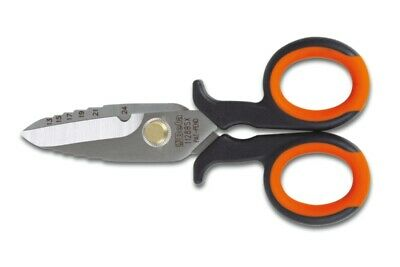 Beta Tools 1128BSX Electricians Scissors Graduated Milling Profile | 011280060
