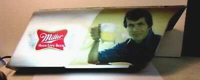 1978 MILLER HIGH LIFE Beer Bar Cowboy Light Lamp Sign Wall Working Condition