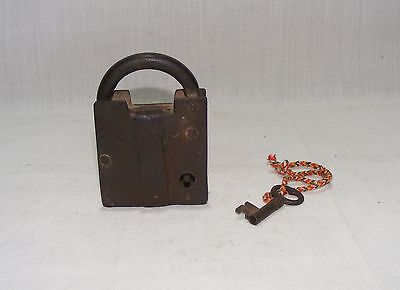 Old Vintage Handcrafted Unique Iron Tricky Pad Lock With Original Key
