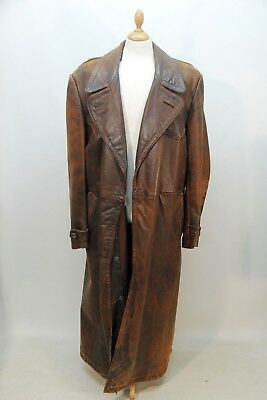 Vintage 1940s German Leather Coat by Meyer Schuchardt