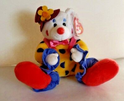 TY BEANIE BABY - JUGGLES the Clown Bear (6.5 inch) - MWMTs Stuffed ... 5894870e2657