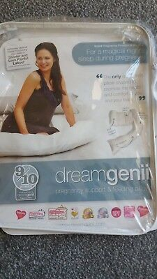 Dreamgenii Pregnancy Support and Feeding Pillow - White