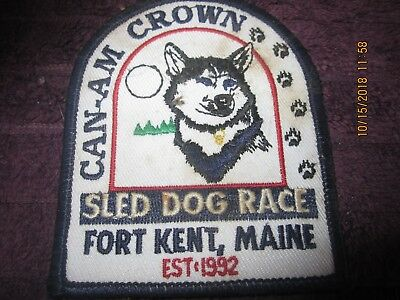 Fort Kent Maine  Sled Dog Race Patch