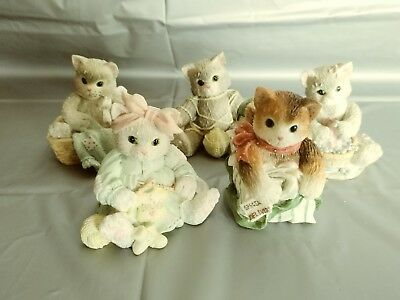 LOT of 5 Calico Kittens by Enesco