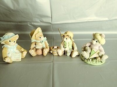 LOT of 4 Calico Kittens by Enesco