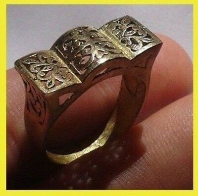 Vintage ANCIENT BRONZE LEGIONARY ROMAN RING Archer's Ring