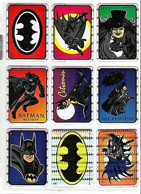 18 BATMAN (1964) and (1992) PRISM Vending Stickers DC Comics Inc.