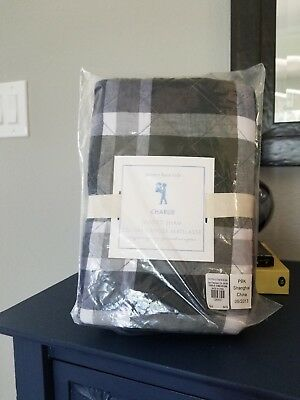 New Pottery Barn Kids Green Charlie Plaid European Square Sham Nwt Sold Out @ Pb
