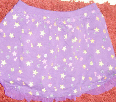 NW0T Girls size 4T purple with glittery stars and tulle trim Halloween skirt