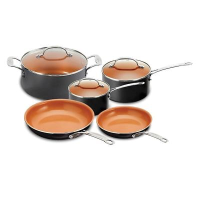 Gotham Steel 8-Piece Non Stick Kitchen and Cookware Set + FREE EGG PAN!!! COPPER
