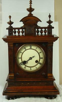 ESTATE Gorgeous Camerer Kuss 18 Inch Solid Wood Elaborate Mantle Clock RUNS!