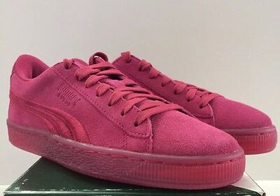 4b3464e0c85 SALE NEW Puma Low Suede Classic Badge Jr Iced Pink Vivacious GS Sz 6.5  365020-