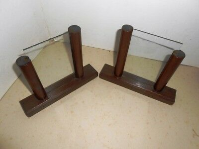 Pair of matching genuine Art Deco photo frames, base 16cm, imge 8cm x 13cm
