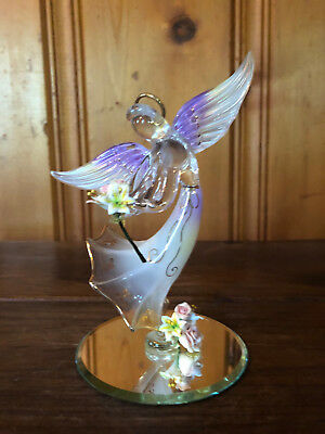 Glass Baron Angel with Gold Accents Marked