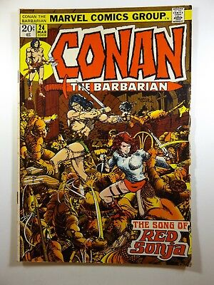 """Conan The Barbarian #24 """"The Song of Red Sonja!"""" VG/Fine Condition Nice Book!"""