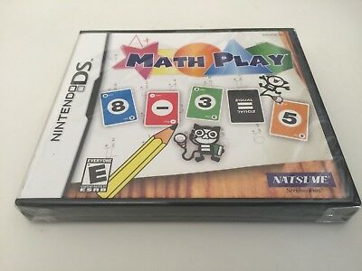 Math Play (Nintendo DS, 2007) DS NEW