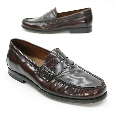 59f2094ff54 Johnston   Murphy Men s 8 M Pannell Burgundy Calfskin Leather Penny MOC  Loafers