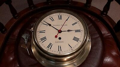Brass Fusee 8in dial Ships clock