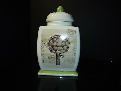 Kathryn White Treasure Craft 10 1/2 High Canister – Mint
