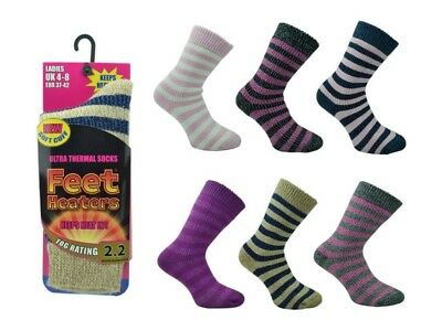Womens Thermal Socks Ladies Thick Hiking Camping Festival Winter Boot Sock