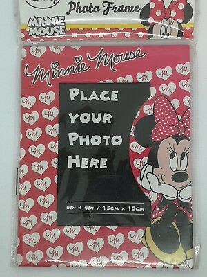 Cute Disney Minnie Mouse Red Kids Bedroom Photo Frame 6x4