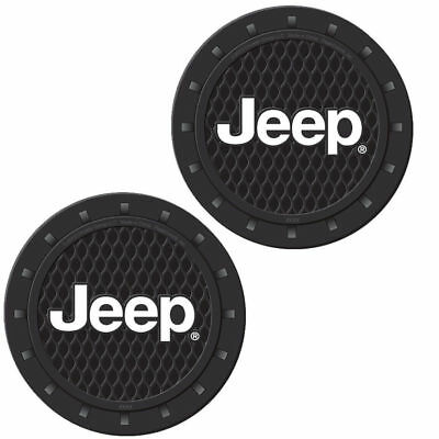 Plasticolor 000652R01 Jeep Logo Cup Holder Coaster Universal New Free Shipping