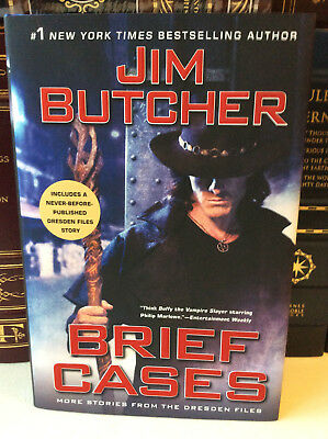 Brief Cases by Jim Butcher - Signed 1st/1st - Short Stories of the Dresden Files
