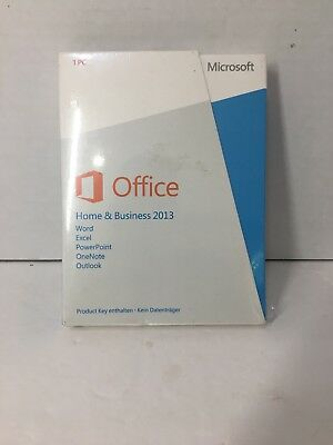 New Sealed Microsoft Office Home and Business 2013, Product Key Inside- No Disc