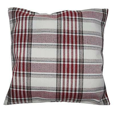 "Highland Scottish Tartan Check Red/wine Mix 18""  Luxury Cushion Cover £5.95 Each"