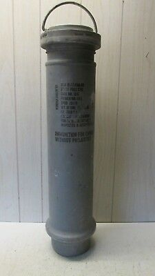 "Military Surplus Ammo Tube Aluminum 31""x8"" with Carry Handle ""Empty"""