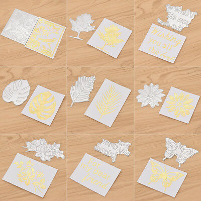 Metal Cutting Dies Hot Stamping Foil Flower Leaves Bird Shape Scrapbooking Stamp
