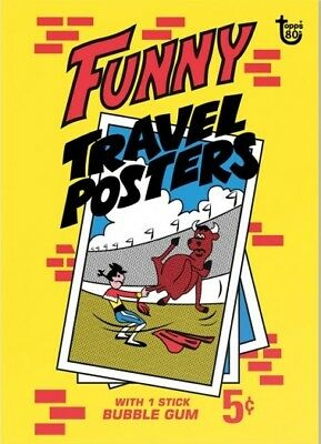 2018 Topps 80th Anniversary Wrapper Art Card #101 - 1967 Funny Travel Posters