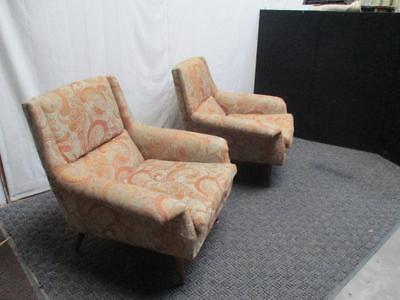 Milo Baughman James Inc Thayer Coggin Mid Century Danish Modern Lounge Chairs