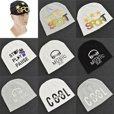 Cotton Soft Warm Cute Letters Printed Hat Beanie Cap For Girls Boys Sporting
