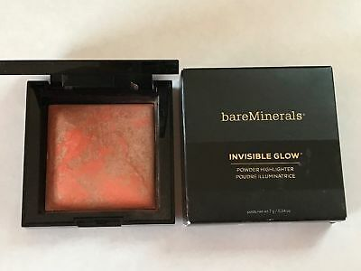 bareminerals Invisible Glow Powder Highlighter (Dark to Deep) 0.24oz/6.8g NIB