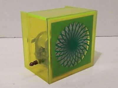 Vintage See Through Music Box With Working Psychedelic Kaleidoscope Plays To The