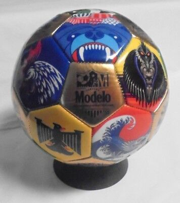 Modelo Especial Beer World Cup Soccer Ball with Stand New in Original Package