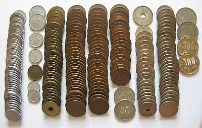 Large Mixed Lot of Japanese Coins Includes Sen and Yen 1.14lbs!