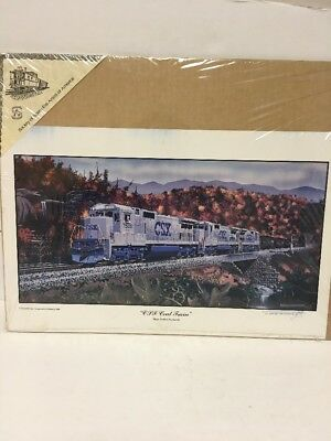 "Ge Transportation System Rail Art Print ""csx Coal Train"" By Robert West"