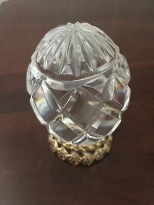 Tyrone Ireland Full Lead Crystal Glass Egg with Stand