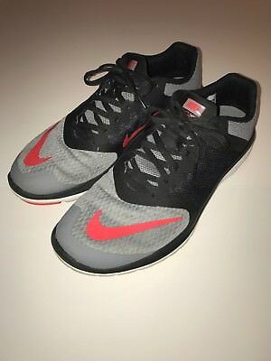 new style 2b362 ec24f NIKE FS LITE RUN 3 Running Shoes Mens Size 10 Gray and Black