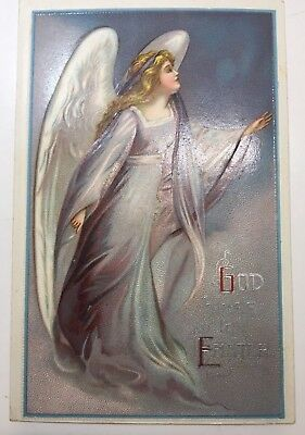 VINTAGE EASTER POSTCARD CLAPSADDLE unSIGNED angel  #1140 unposted God Bless Thy.