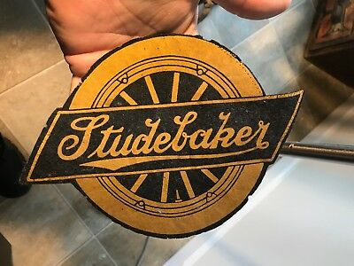 Early Studebaker Automobile Felt Patch Advertising Sign Rare