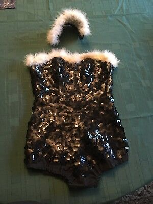 1950s-60s Homemade Burlesque / Pin-up Outfit With Hat AS FOUND