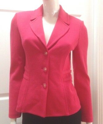St. John Collection by Marie Gray Pink Santana Knit Jacket w/Logo Buttons -sz 2