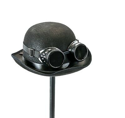 Ladies Victorian Derby Deluxe Top Hat With Steampunk Black Goggles Costume 5853b13a68ba