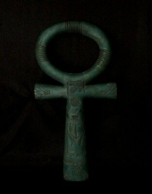 Rare ANCIENT EGYPTIAN ART ANTIQUES Ankh Key of Life EGYPT STONE 3150 - 2613 BC