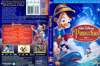 Walt Disney's Pinocchio 2-Disc DVD Set 70th Anniversary Platinum Edition Movie