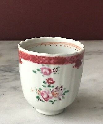 Antique Chinese Export Porcelain Tea Cup, 18th Century, Unmarked