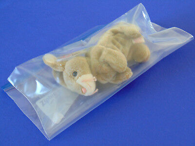 """TY Beanie Baby Retired """"Nibbly"""" The Rabbit With Tags 1999 DOB 5-7-98"""